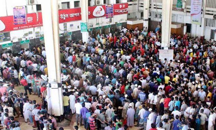 কমলাপুর স্টেশনে টিকিটের সার্ভাররুমে অভিযান চালিয়েছে দুদক