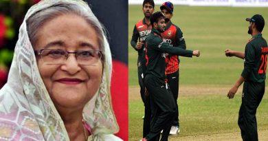 বাংলাদেশ ক্রিকেট দলকে অভিনন্দন জানিয়েছেন প্রধানমন্ত্রী